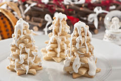 Winter tree cookies Stock Image