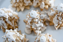 Winter tree cookies top Stock Photos