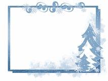 Winter Tree Frame Stock Photography
