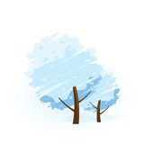 Winter tree icon Royalty Free Stock Photos