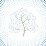 Winter tree season abstract background. Vector Stock Images