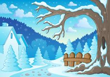 Winter tree theme image 2 Royalty Free Stock Photos