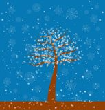 Winter tree, vector Stock Photo