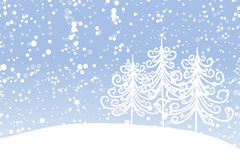 Winter tree for your design. Christmas holiday. Royalty Free Stock Photo