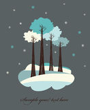 Winter trees. Royalty Free Stock Image