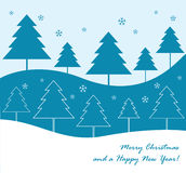 Winter trees background Stock Image