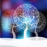 Winter trees background Royalty Free Stock Photos