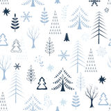 Winter trees background Stock Photography