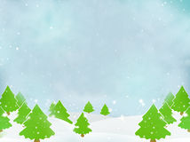 Winter Trees Christmas Landscape Background Royalty Free Stock Image