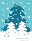 Winter trees illustration royalty free illustration