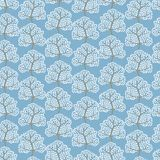 Winter trees seamless pattern (Abstract season Stock Photos