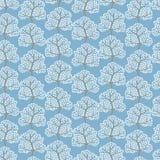 Winter trees seamless pattern (Abstract season Stock Photos
