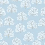 Winter trees seamless pattern (Abstract season Royalty Free Stock Photography