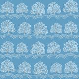 Winter trees seamless pattern (Abstract season Royalty Free Stock Photos