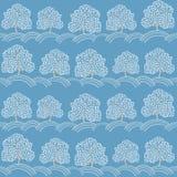Winter trees seamless pattern (Abstract season Royalty Free Stock Photos