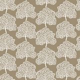 Winter trees seamless pattern (Abstract season Royalty Free Stock Images