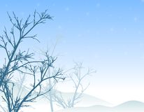 Winter Trees Snow Scene royalty free illustration