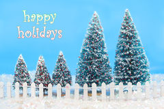 Free Winter Trees With Fence Stock Photography - 11673312