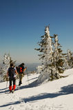 Winter trekking Stock Image