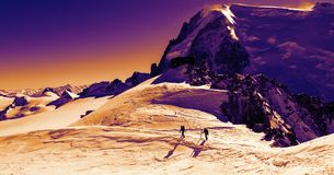 Winter trekking in Alps Stock Photography