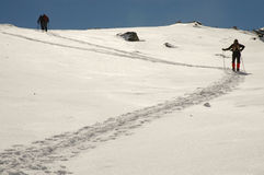 Winter trekking in Retezat mountains, Romania Royalty Free Stock Photo