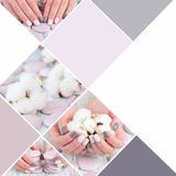 Winter trend knit manicure Royalty Free Stock Image