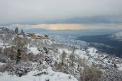 Winter at Trikala Korinthias, Peloponnese, Greece Royalty Free Stock Photo