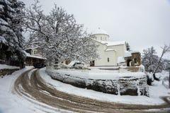 Winter at Trikala Korinthias, Peloponnese, Greece Stock Photo