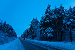 Winter trip Royalty Free Stock Photography