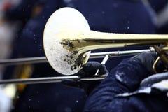 Winter trombone Royalty Free Stock Image