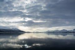 Winter in Tromsoe, Norwegen Stockfotografie
