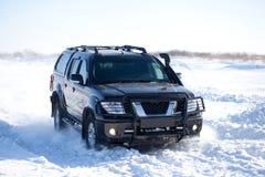 Winter truck ride Royalty Free Stock Photos