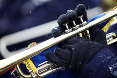Winter trumpet Royalty Free Stock Photography
