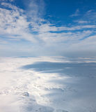 Winter tundra from above Royalty Free Stock Images