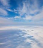 Winter tundra from above Royalty Free Stock Photo