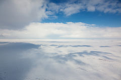 Winter tundra from above Stock Image