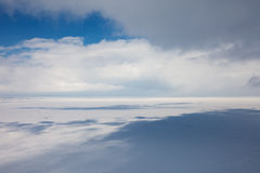 Winter tundra from above Royalty Free Stock Photography