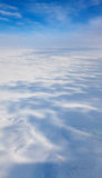 Winter tundra from above Stock Images