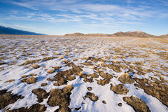 Winter Tundra Desert Landscape Great Basin Area Western USA Royalty Free Stock Photography
