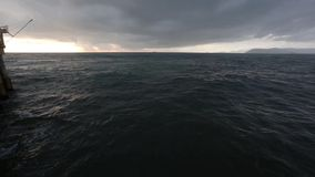 Winter Twilight Adriatic Sea Coast. stock video