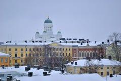 Winter twilight in Helsinki Stock Image