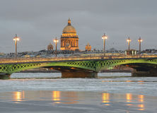 Winter Twilight In Saint Petersburg Royalty Free Stock Images