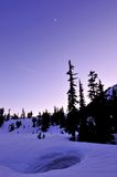 Winter twilight in Mt. Baker Stock Photo