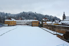 Winter. Typical urban landscape of the city Brasov, Transylvania Brasov is a town situated in Transylvania, Romania, in Stock Images