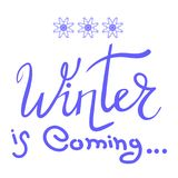 Winter Typographic Lettering Royalty Free Stock Photos
