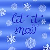 Winter Typographic Poster Royalty Free Stock Photo