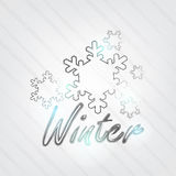 Winter Typography Royalty Free Stock Photos