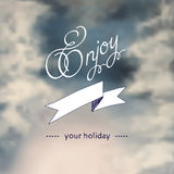 Winter typography, with blurry photo as a Stock Photography