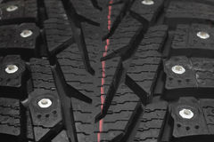 Winter tyre Stock Photography