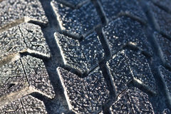 Winter tyre. Royalty Free Stock Photo
